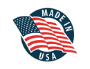 Made In USA badge with American flag | New Coastal