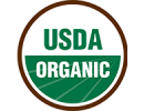 Official USDA Organic green badge on transparent background | New Coastal