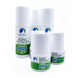 3 oz and 1 oz Bottles of Rapid Pain Relief Roll-On CBD Gel by New Coastal CBD | newcoastal.shop