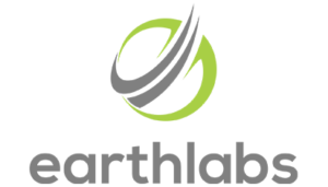 Large EarthLabs logo in light green and dark gray on transparent background | New Coastal