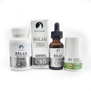 cbd wellness gift set relax for anxiety & depression | newcoastal.shop