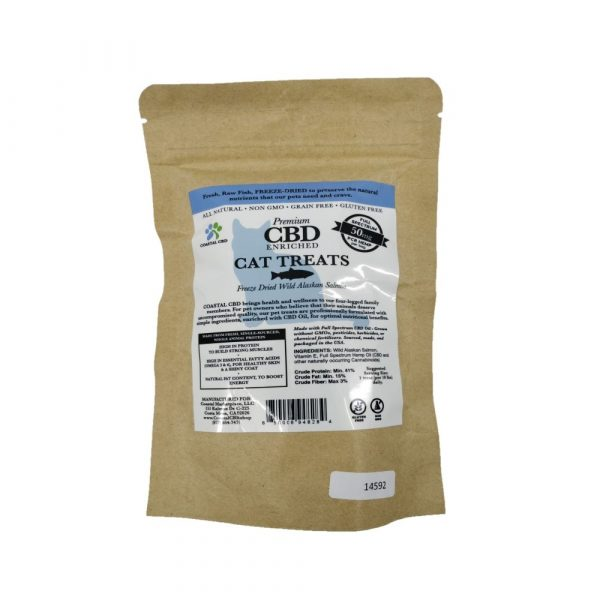 cbd cat treats salmon label
