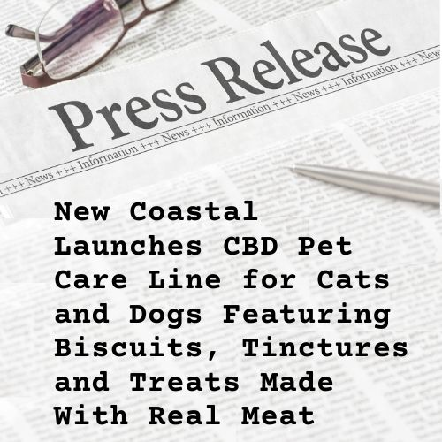 Press release illustration for CBD Pet Care Line | New Coastal